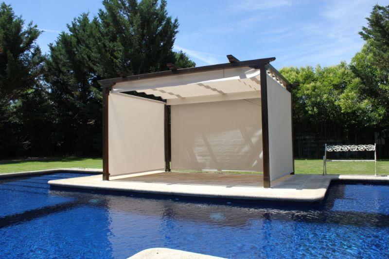 Madeira luxor productos for Pergolas para piscinas