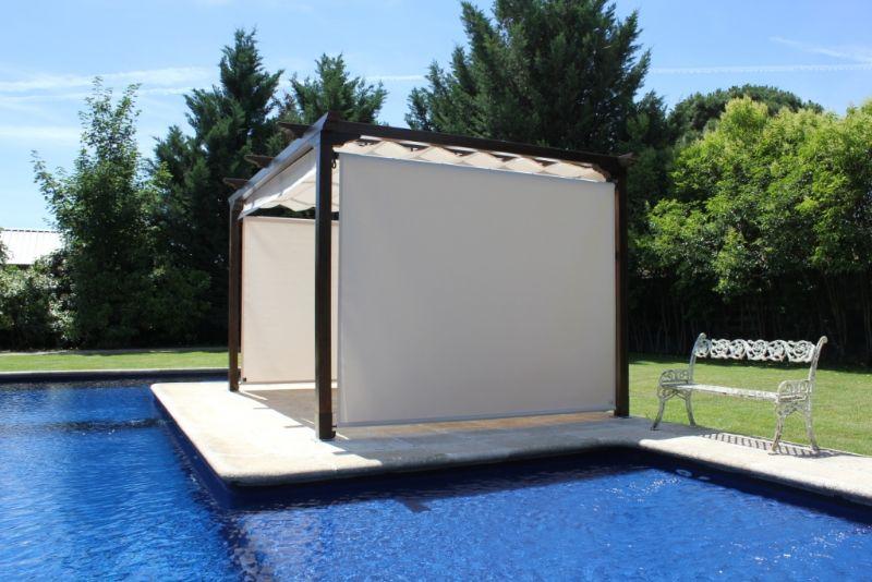 Pergolas para piscinas simple catlogo pergolas with for Pergolas para piscinas